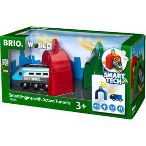 BRIO Zug mit Actiontunnels Smart Tech
