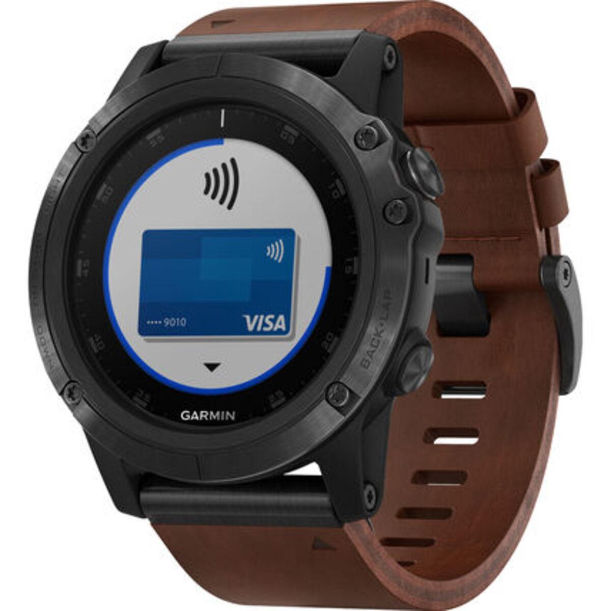 """Bild 3 von Garmin Herren Smartwatch fenix® 5X Plus Sapphire """"010-01989-03"""", braun"""