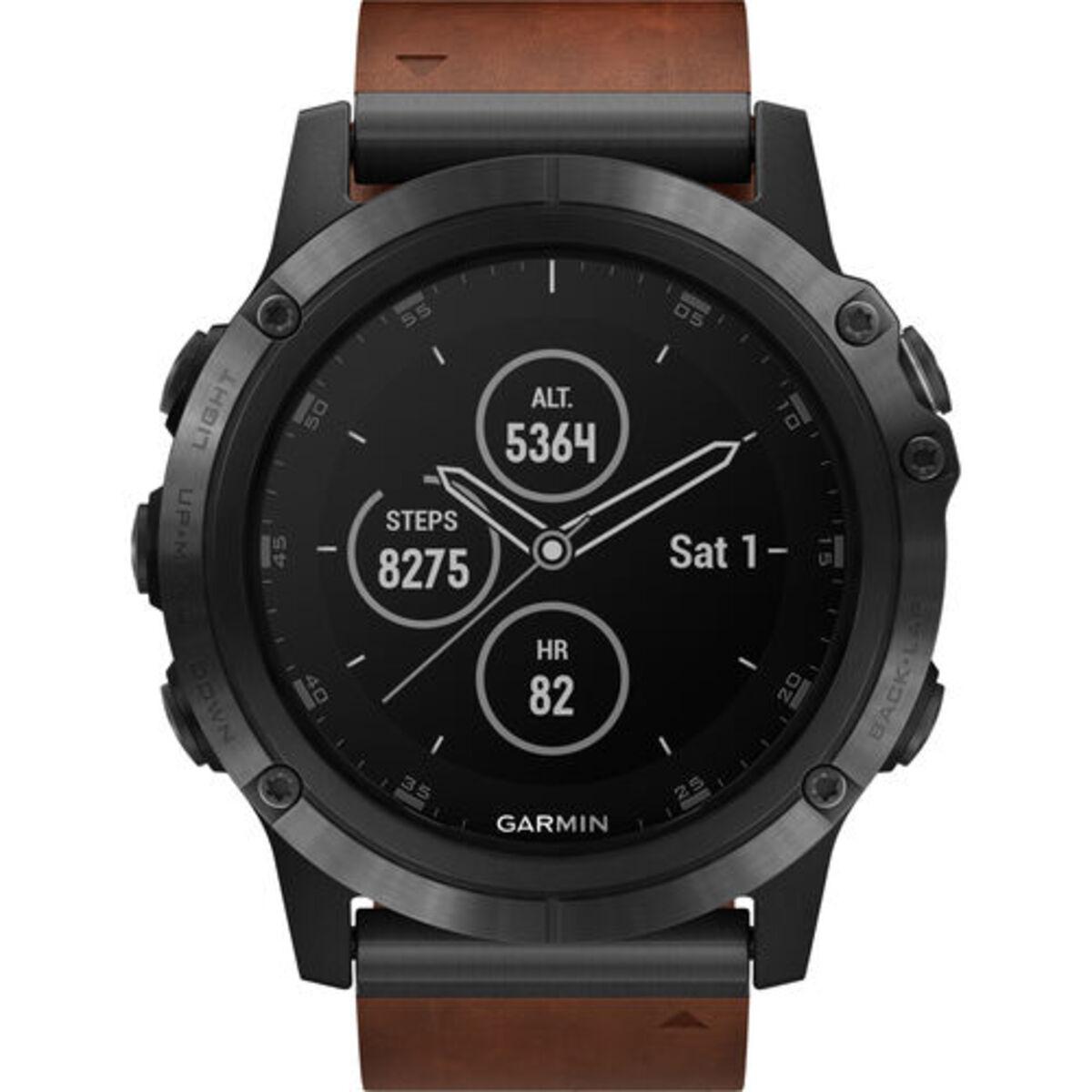 """Bild 5 von Garmin Herren Smartwatch fenix® 5X Plus Sapphire """"010-01989-03"""", braun"""