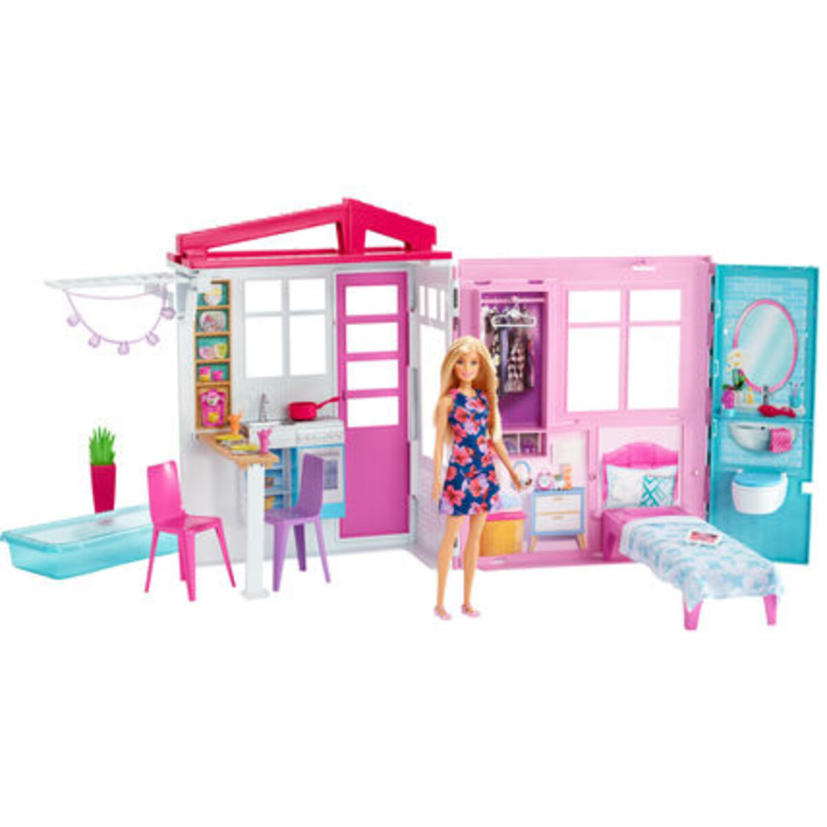 Bild 1 von Barbie Ferienhaus mit Möbeln und Puppe