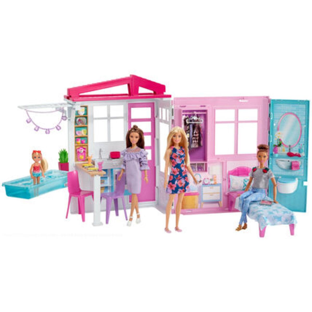 Bild 3 von Barbie Ferienhaus mit Möbeln und Puppe