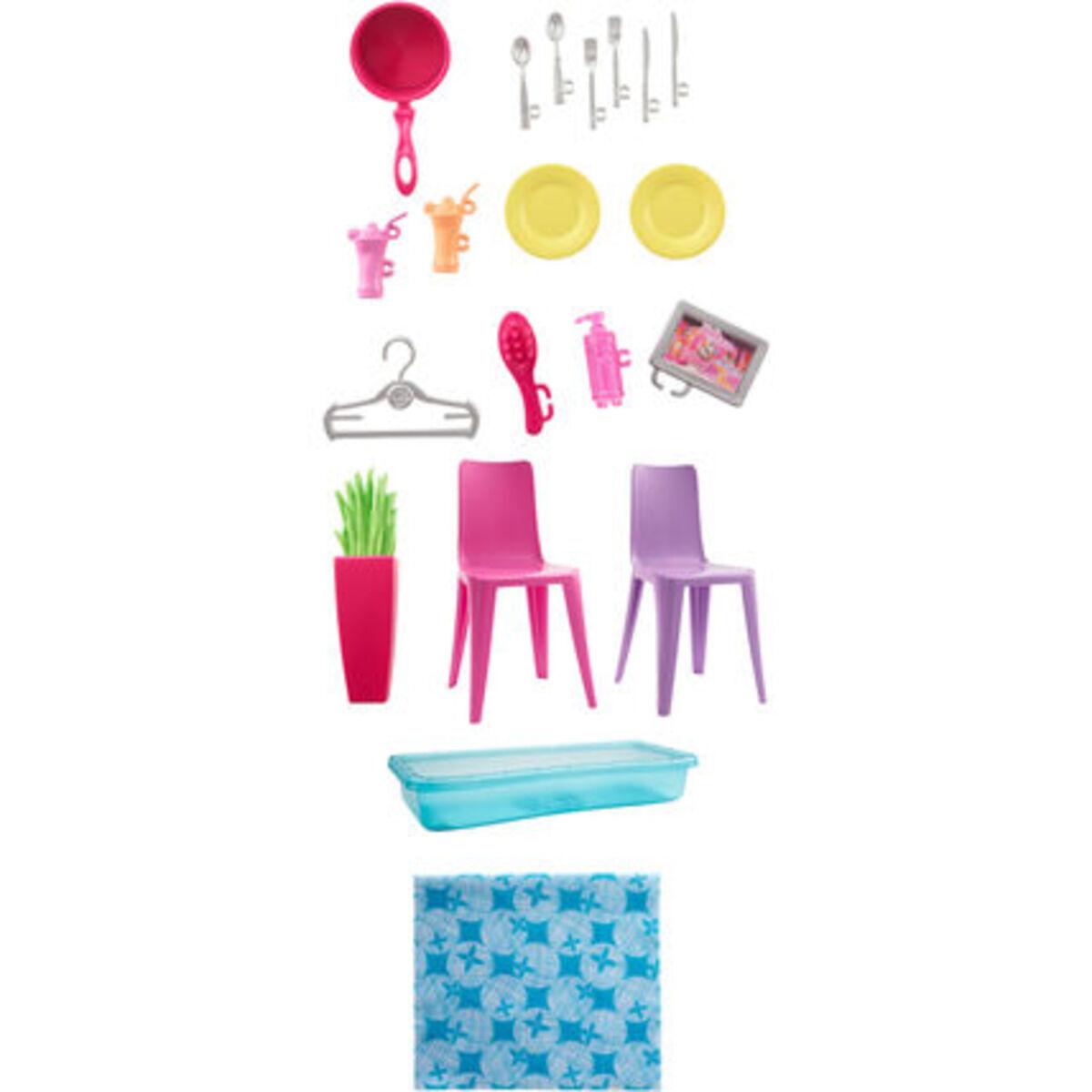Bild 4 von Barbie Ferienhaus mit Möbeln und Puppe