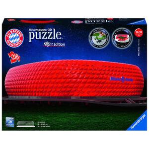 Ravensburger 3D Puzzle Night Edition Allianz Arena bei Nacht, 216 Teile