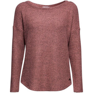 edc by Esprit Damen Waffel-Shirt Langarm