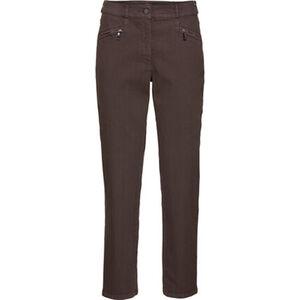 Zerres Damen Jeans mit Elastikbund, taupe, Kurzgröße, 19, 19
