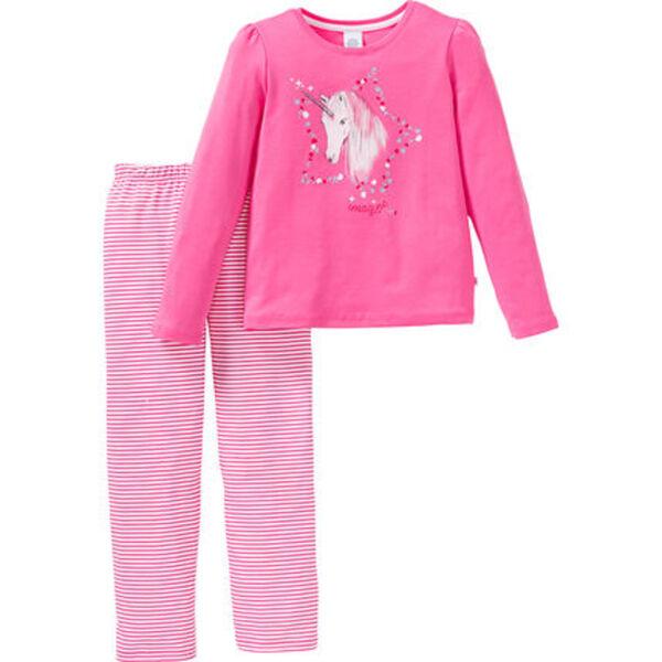Sanetta Kidswear Mädchen Schlafanzug mit gerüschten Ärmeln