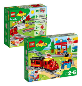 LEGO® DUPLO Bundle Eisenbahn Schienen 10882 und Dampfeisenbahn 10874
