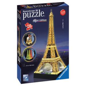 Ravensburger 3D Puzzle Night Edition Eiffelturm bei Nacht, 216 Teile
