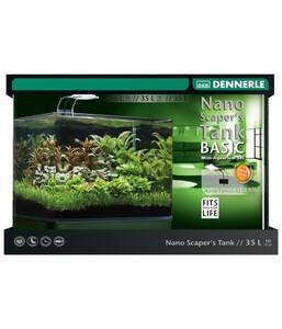 DENNERLE Aquarium-Set Nano Scarper's Tank Complete LED, 35 Liter