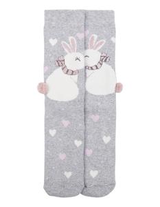 Damen Socken mit Hasen- und Herzmuster