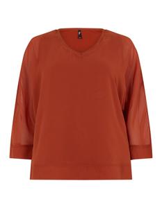 Damen Shirt aus Chiffon mit Dreiviertelärmeln