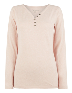 Damen Serafino-Shirt aus Slub Jersey