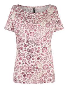Damen Cold-Shoulder-Shirt mit ornamentalem Muster