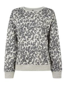 Damen Sweatshirt mit Leopardenmuster