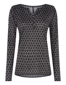 Damen Blusenshirt  mit grafischem Muster
