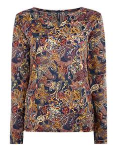 Damen Blusenshirt mit Paisley-Design