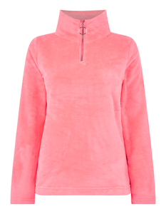 Damen Sweatshirt aus Teddyfell in Neonfarbe