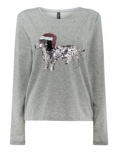 Damen Sweatshirt mit Wendepailletten