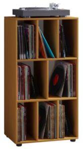 """VCM Schallplatten Regal Archiv LP Möbel Archivierung """"Schaltino"""" VCM Schallplattenregal Schaltino (Farbe: Buche)"""