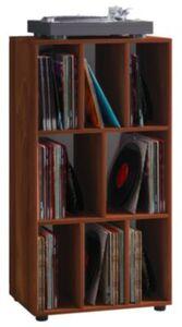 """VCM Schallplatten Regal Archiv LP Möbel Archivierung """"Schaltino"""" VCM Schallplattenregal Schaltino (Farbe: Kern-Nussbaum)"""