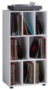 """VCM Schallplatten Regal Archiv LP Möbel Archivierung """"Schaltino"""" VCM Schallplattenregal Schaltino (Farbe: Weiß)"""