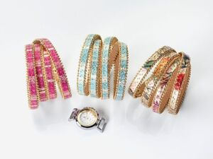 "cb Armbanduhr ""Helena"" mit Wechselarmbändern 4tlg."