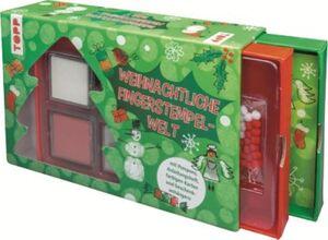 Weihnachtliche Fingerstempel-Welt