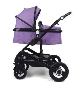 VCM Premium Set 2in1 Kombi - Kinderwagen, gefederter Babywagen Alu VCM Premium Kinderwagen 2in1 (Farbe: Lila)