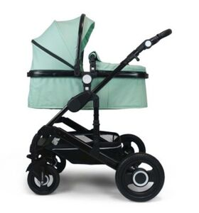 VCM Premium Set 2in1 Kombi - Kinderwagen, gefederter Babywagen Alu VCM Premium Kinderwagen 2in1 (Farbe: Mint)