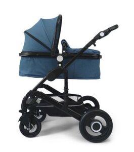 VCM Premium Set 2in1 Kombi - Kinderwagen, gefederter Babywagen Alu VCM Premium Kinderwagen 2in1 (Farbe: Hellbau)