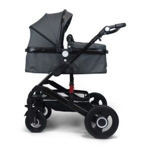 VCM Premium Set 2in1 Kombi - Kinderwagen, gefederter Babywagen Alu VCM Premium Kinderwagen 2in1 (Farbe: Dunkelgrau)