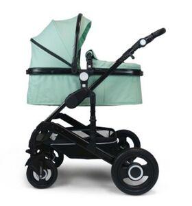 VCM Premium Set 3in1 Kombi - Kinderwagen, gefederter Babywagen Wanne Autositz Alu VCM Premium Kinderwagen 3in1 (Farbe: Mint)