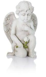 Grabdekoration Engel mit Rose