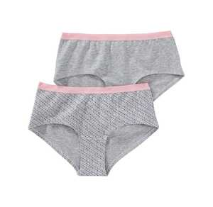 Damen-Panty in Melange-Optik, 2er Pack