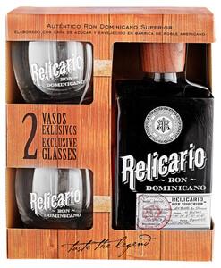 Ron Relicario Superior in Geschenkverpackung mit 2 Gläsern
