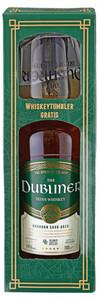 The Dubliner Irish Whiskey in Geschenkverpackung mit Glas