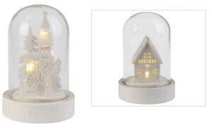 LED-Dekoglocke - aus Glas - 5,5 x 8,5 cm - 1 Stück