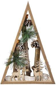 LED-Standdeko - Baum - aus Holz - 20 x 5 x 30 cm