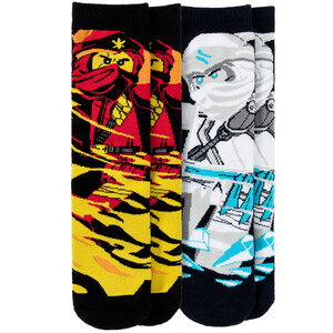 2 Paar LEGO Ninjago Vollfrottee-Socken im Set