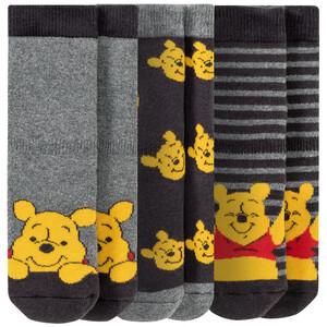 3 Paar Winnie Puuh Vollfrottee-Socken im Set
