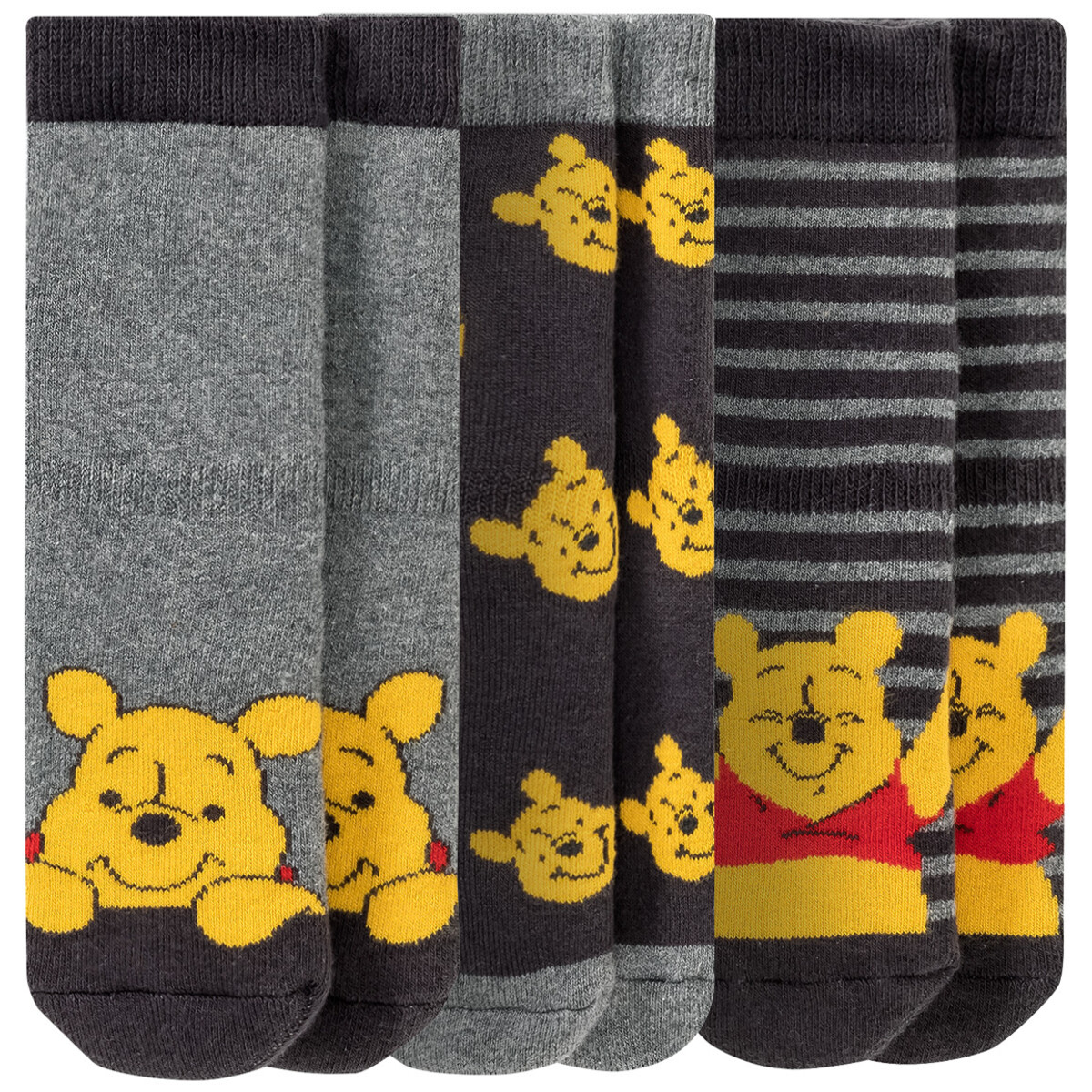 Bild 1 von 3 Paar Winnie Puuh Vollfrottee-Socken im Set