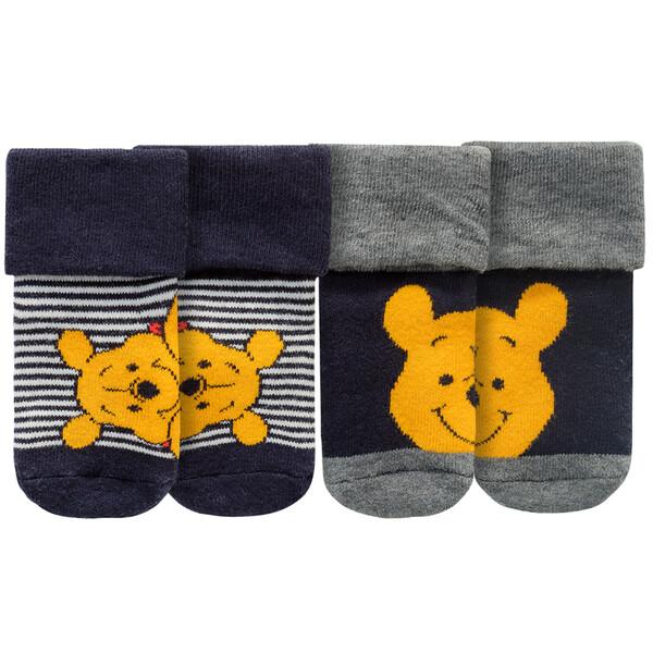 2 Paar Winnie Puuh Newborn Socken im Set