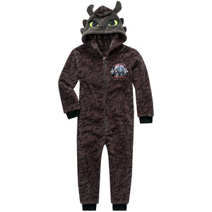 DRAGONS Onesie mit Applikation an der Kapuze