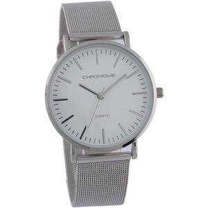Chronique Damen Armbanduhr mit Mesharmband, Silber