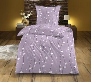 Dreamtex Nicki Fleece Bettwäsche 135x200 cm, flieder