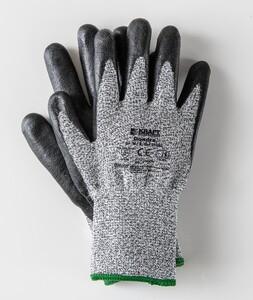 Kraft Werkzeuge Schnittschutz-Handschuhe Größe 10, Schwarz