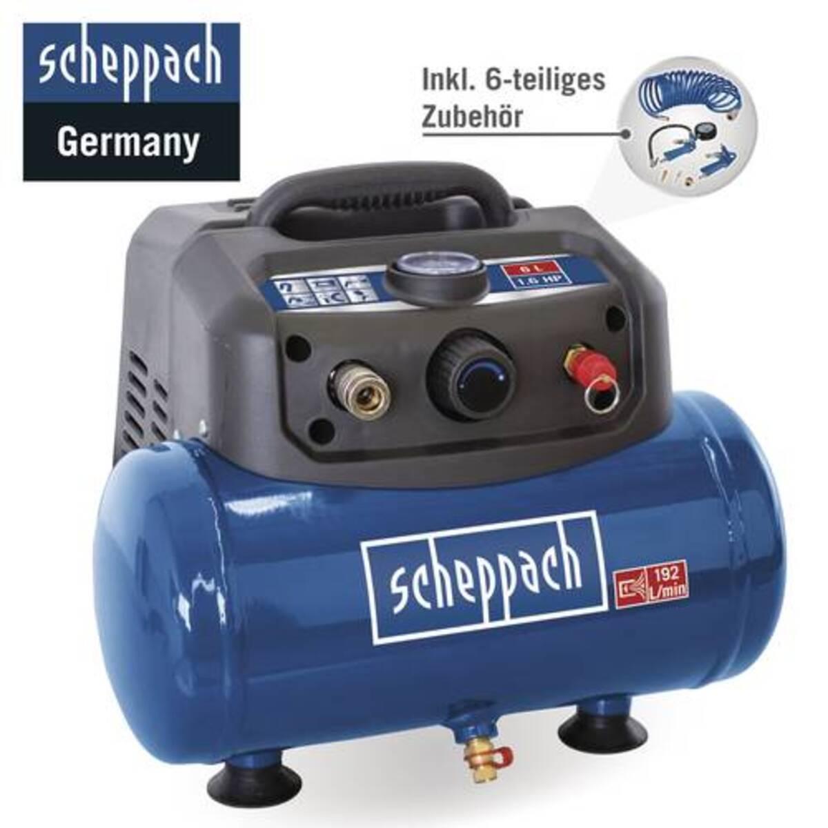 Bild 2 von Scheppach Kompressor HC06 6L