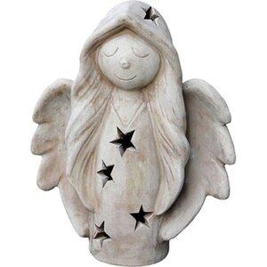 Weihnachts-Engel Terrakotta 42 cm x 35 cm x 14 cm