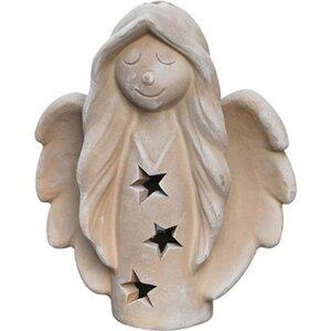 Weihnachts-Engel Terrakotta 33 cm x 27 cm x 11 cm
