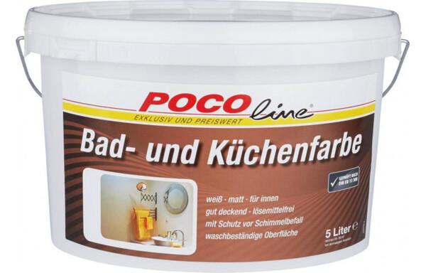 bad und küchenfarbe weiß 5 liter von poco